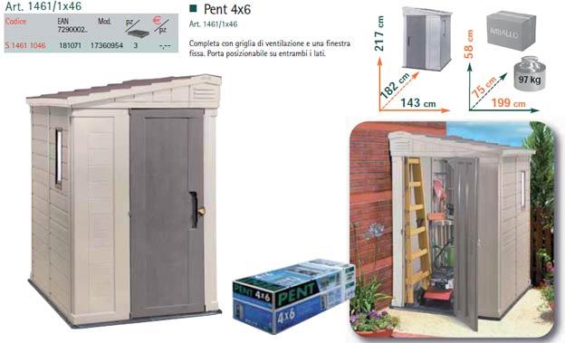 Casette di resina per arredo giardini apex pent 4x6 - Casette da giardino in resina ...