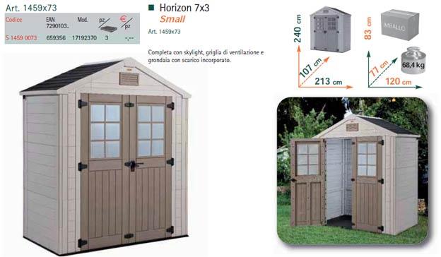 Costo casette in resina profilati alluminio - Casette da giardino in resina ...