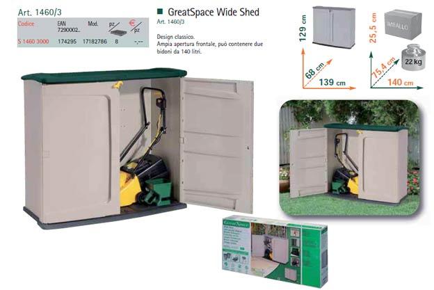 Mobili per attrezzi da giardino design casa creativa e for Mobili da giardino in resina