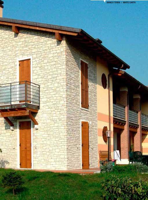 Facciate esterne in pietra ispirazione design casa with for Log e pietra piani per la casa