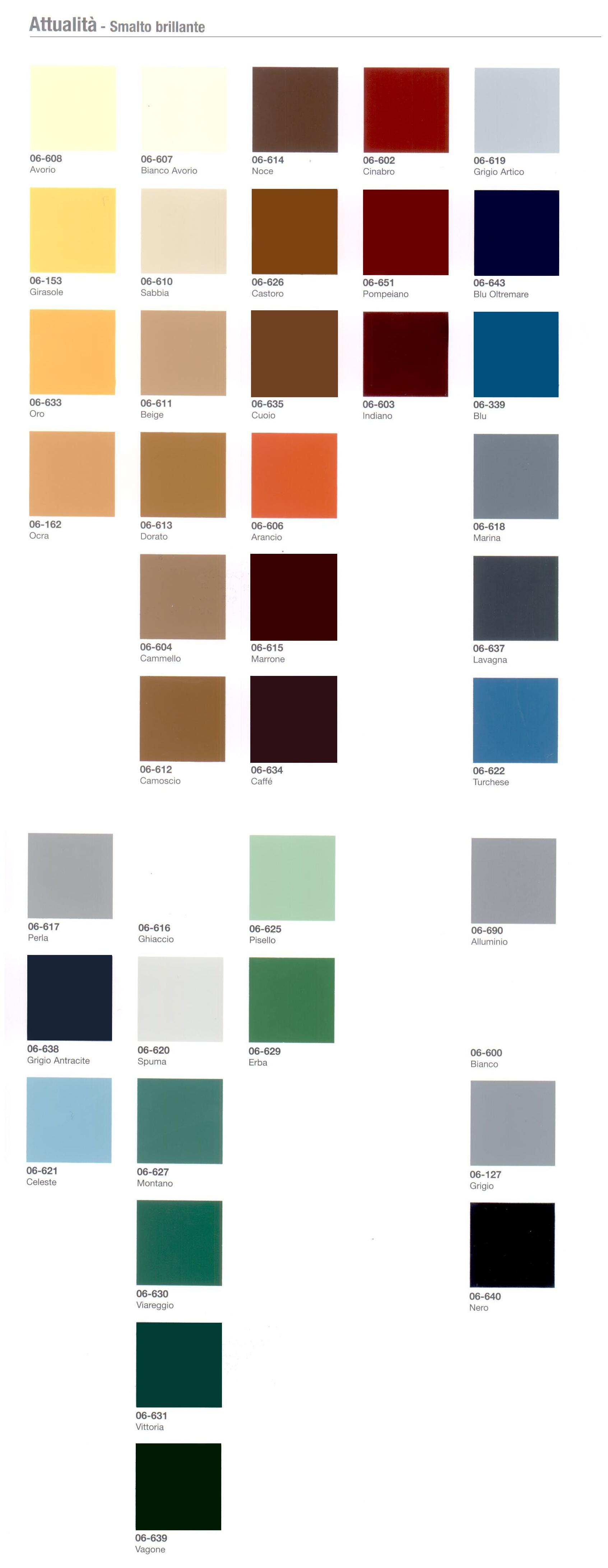 Tabella colori luxens colori per dipingere sulla pelle - Vernici casati ...