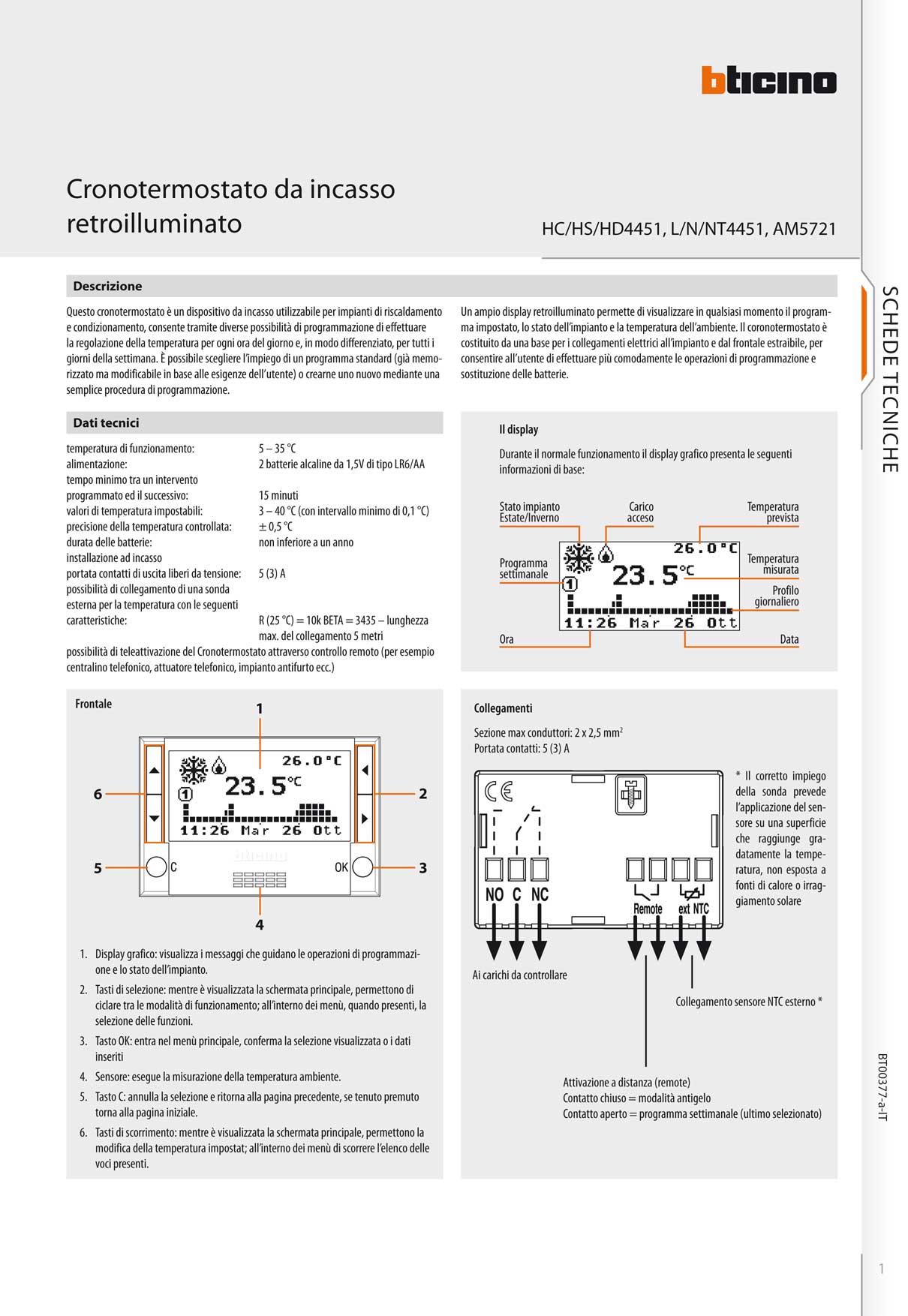 Bti matix cronotermostato cromo ad incasso for Cronotermostato vimar 01910 manuale istruzioni